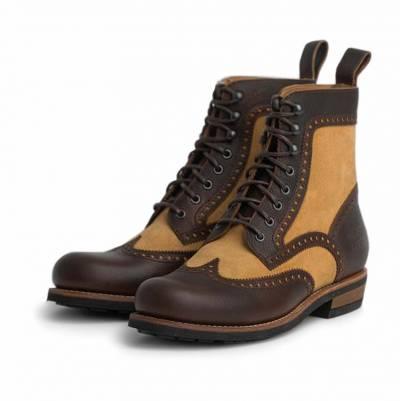 ROKKER Schuhe Frisco Brogue Boot Ltd, braun-beige