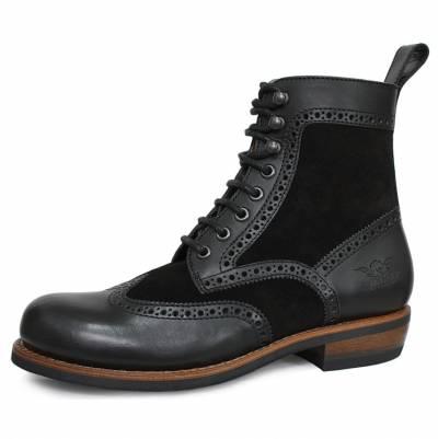ROKKER Schuhe Frisco Brogue Boot, schwarz
