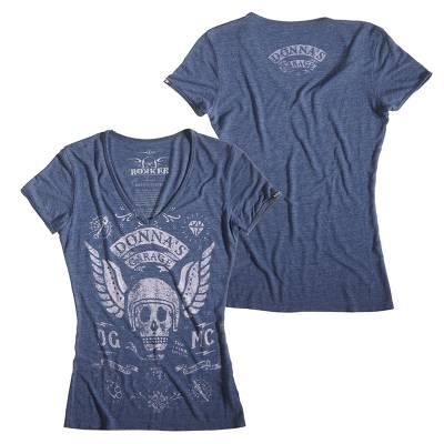 ROKKER T-Shirt Donnas MC Damen, blau