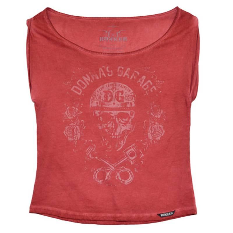 ROKKER T-Shirt Piston Roses Women, rot