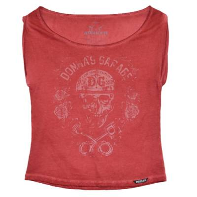 ROKKER T-Shirt Piston Roses Women, rot