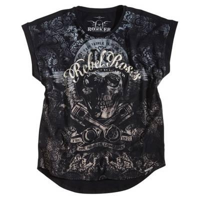 ROKKER T-Shirt Rebel Roses 77, dunkelgrau
