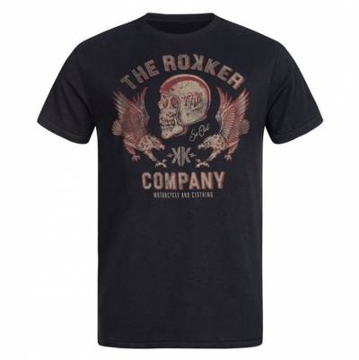 ROKKER T-Shirt Red Eagle, schwarz