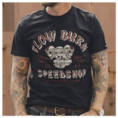 ROKKER T-Shirt Slow Burn, schwarz