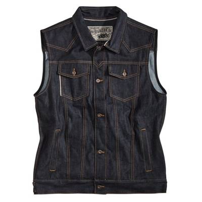 ROKKER Weste Team Denim Vest, blau