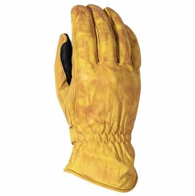 Rusty Stitches Handschuhe Johnny, gelb-schwarz