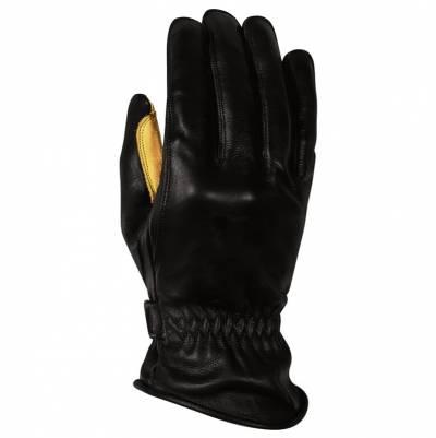 Rusty Stitches Handschuhe Johnny, schwarz-gelb