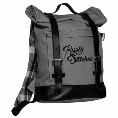 Rusty Stitches Rucksack Archer 25 Liter, grau-schwarz