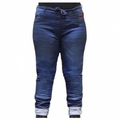 Rusty Stitches Übergrößen-Jeans Super Ella, blau