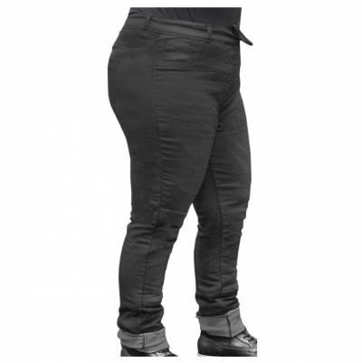 Rusty Stitches Übergrößen-Jeans Super Ella, schwarz
