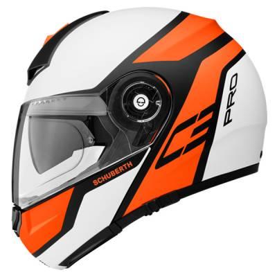 Schuberth Helm C3 Pro Echo Orange, weiß-orange-schwarz-matt