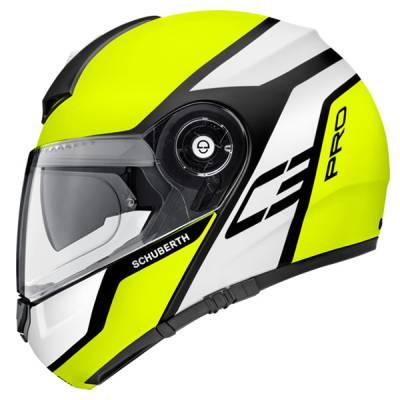 Schuberth Helm C3 Pro Echo Yellow, fluogelb-weiß-schwarz matt