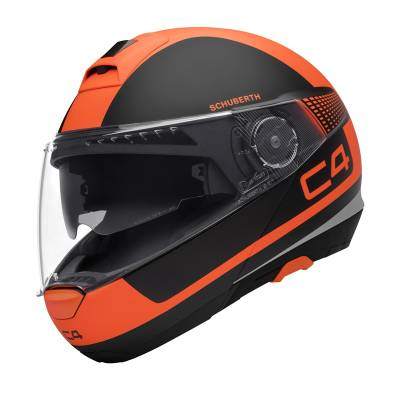 Schuberth Helm C4 Legacy Orange, orange-schwarz matt