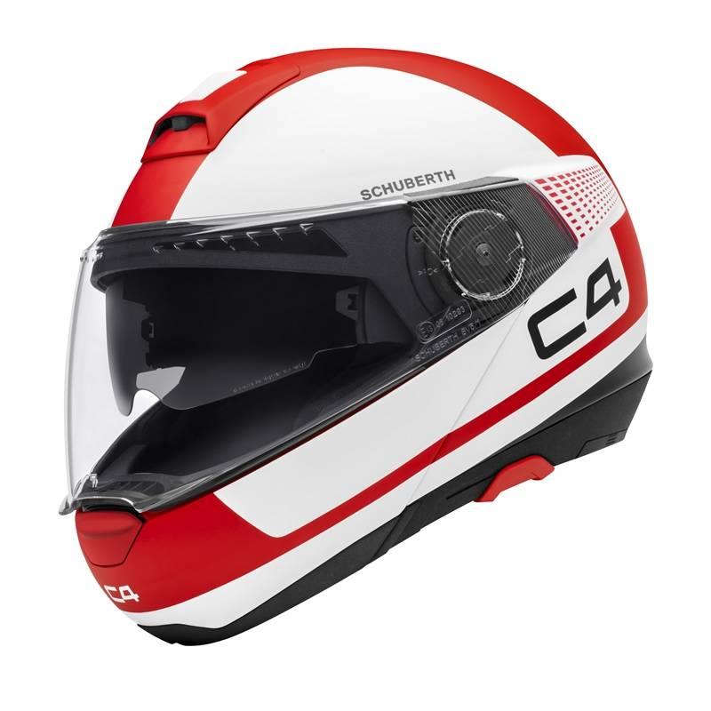 Schuberth Helm C4 Legacy Red, rot-weiß matt