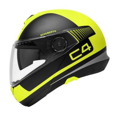 Schuberth Helm C4 Legacy Yellow, gelb-schwarz matt