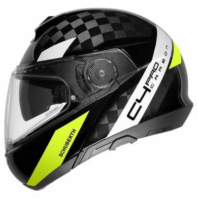 Schuberth Helm C4 Pro Carbon Avio, schwarz-fluogelb-weiß