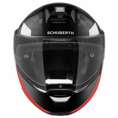 Schuberth Helm C4 Pro Carbon Avio, schwarz-rot-weiß