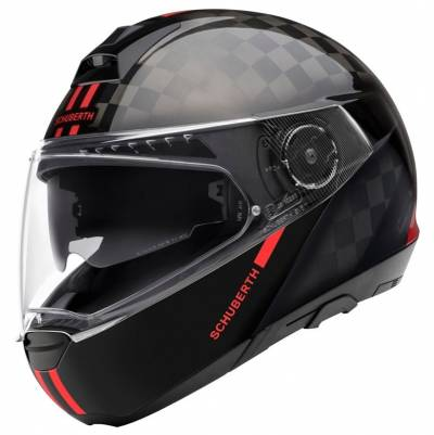 Schuberth Helm C4 Pro Carbon Fusion, schwarz-rot