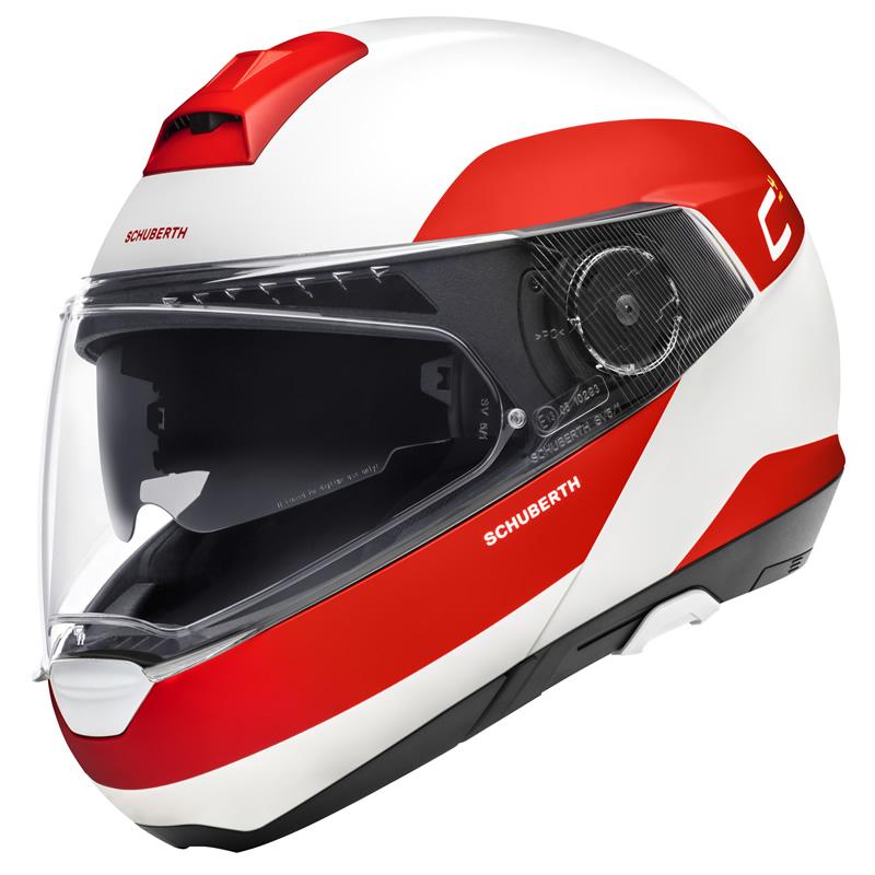 Helm C4 Pro Fragment Red Weiß Rot Matt