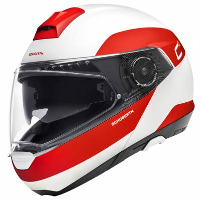 Schuberth Helm C4 Pro Fragment Red, weiß-rot matt