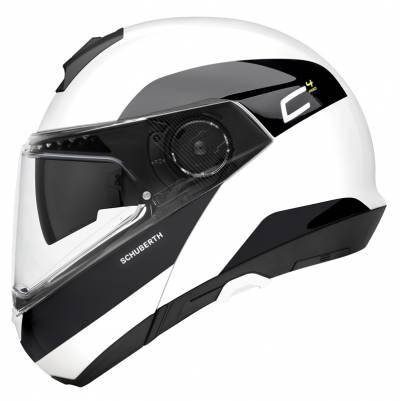 Schuberth Helm C4 Pro Fragment White, weiß-schwarz