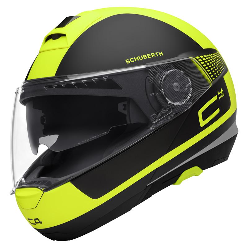 Helm C4 Pro Legacy Yellow Schwarz Fluogelb Matt