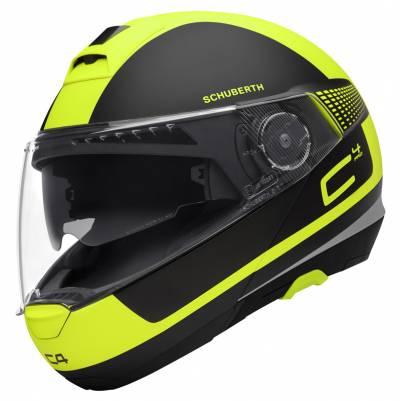 Schuberth Helm C4 Pro Legacy Yellow, schwarz-fluogelb matt