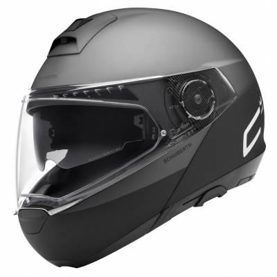 Schuberth Helm C4 Pro Swipe Grey, schwarz-grau matt