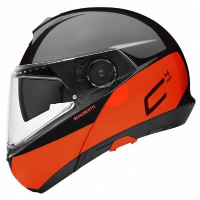 Schuberth Helm C4 Pro Swipe Orange, schwarz-orange