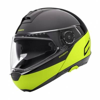 Schuberth Helm C4 Pro Swipe, schwarz-fluogelb