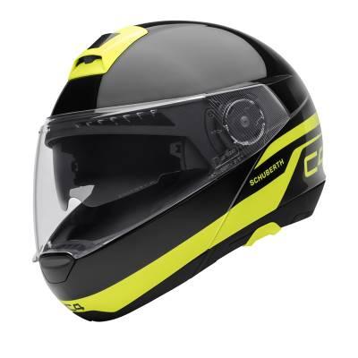 Schuberth Helm C4 Pulse Black, schwarz-neongelb