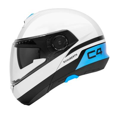 Schuberth Helm C4 Pulse White, weiß-blau