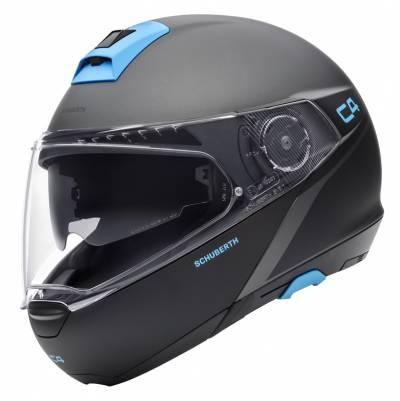 Schuberth Helm C4 Spark Grey, grau-schwarz-blau matt