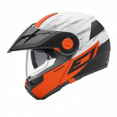 Schuberth Helm E1 Crossfire Orange, orange-weiß-schwarz