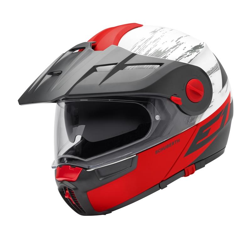 Helm E1 Crossfire Red Rot Weiß Schwarz