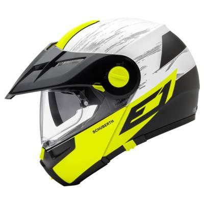 Schuberth Helm E1 Crossfire Yellow, gelb-weiß-schwarz