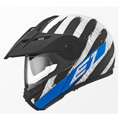 Schuberth Helm E1 Hunter Blue, schwarz-weiß-blau
