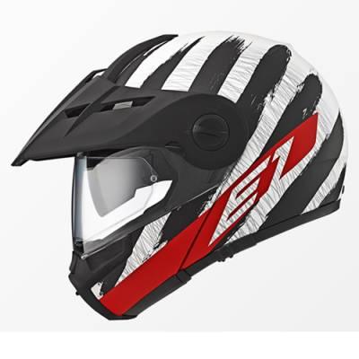 Schuberth Helm E1 Hunter Red, schwarz-weiß-rot