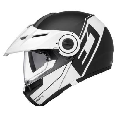 Schuberth Helm E1 Radiant White, schwarz-weiß-matt