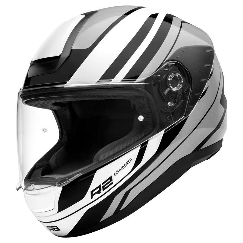 Schuberth Helm R2 Enforcer Grey, weiß-grau-schwarz