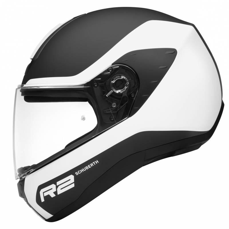 Schuberth Helm R2 Nemesis White, schwarz-weiß matt