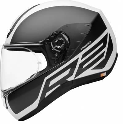 Schuberth Helm R2 Traction White, schwarz-weiß matt