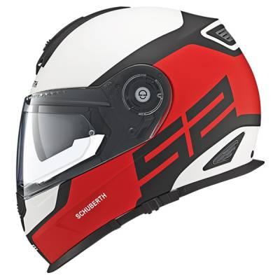 Schuberth Helm S2 Sport Elite Red, weiß-rot-schwarz-matt
