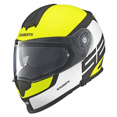 Schuberth Helm S2 Sport Elite Yellow, weiß-gelb-schwarz matt