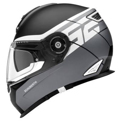 Schuberth Helm S2 Sport Rush Grey, schwarz-weiß-grau