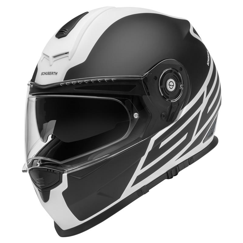 Helm S2 Sport Traction White Schwarz Weiß