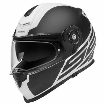 Schuberth Helm S2 Sport Traction White, schwarz-weiß