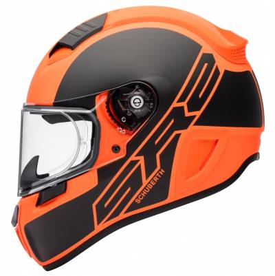 Schuberth Helm SR2 Traction Orange, schwarz matt-orange