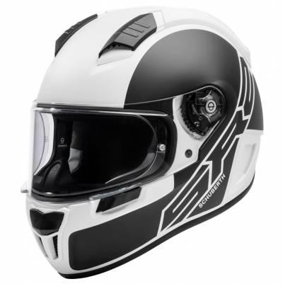 Schuberth Helm SR2 Traction White, schwarz matt-weiß