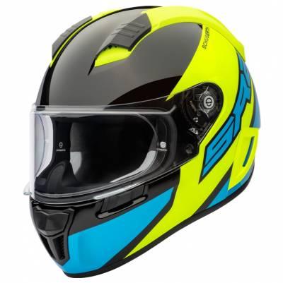 Schuberth Helm SR2 Wildcard Yellow, neongelb-hellblau-schwarz